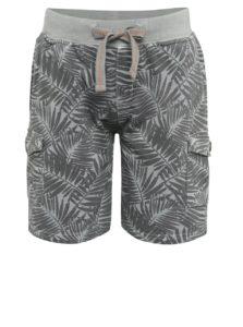 Sivé chlapčenské teplákové šortky Bóboli