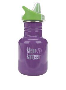 Fialová detská nerezová fľaša Klean Kanteen Kid Classic Sippy 355 ml