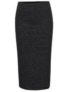 08c40702c08e Čierna pruhovaná puzdrová sukňa ONLY Abble