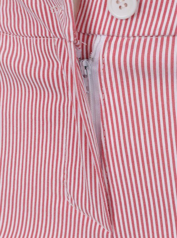 Červené pruhované skrátené nohavice ZOOT