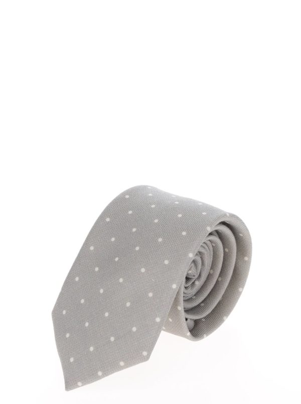 Béžová vlnená kravata s bodkami Jack & Jones Premium Venezuela