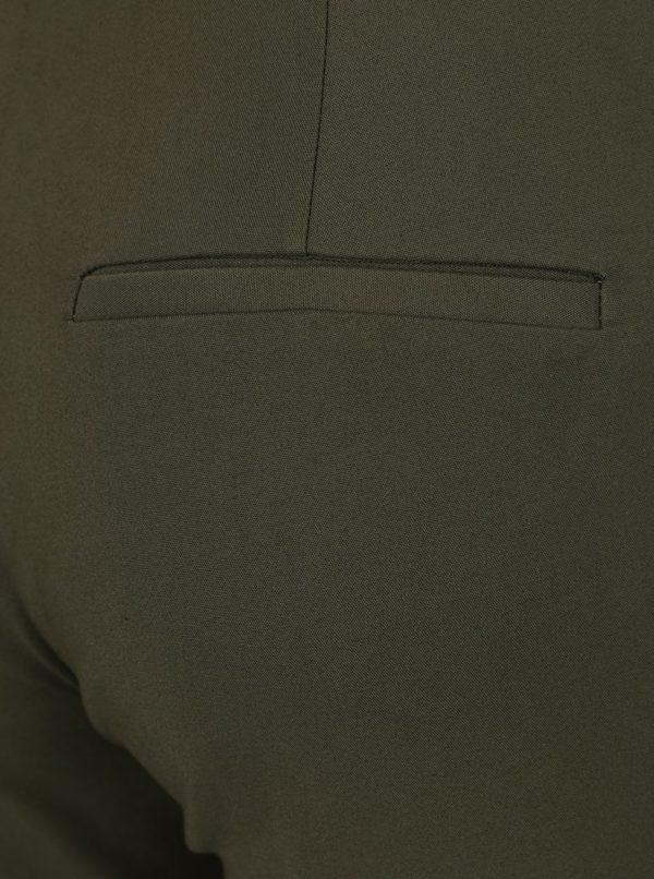 Kaki skrátené nohavice Selected Femme Muse