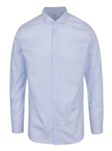 Svetlomodrá formálna  prúžkovaná slim fit  košeľa Jack & Jones Premium Costa Rica