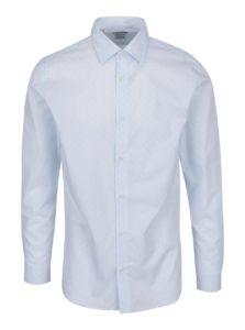 Svetlomodrá formálna vzorovaná slim fit košeľa Selected Homme Done Pen