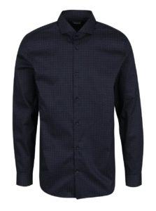 Tmavomodrá formálna vzorovaná regular fit košeľa Selected Homme Two Sel-ted