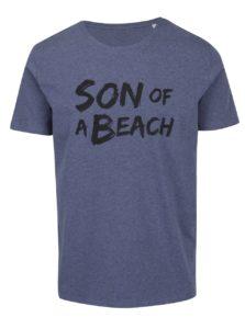Modré pánske melírované tričko ZOOT Originál Son of a beach