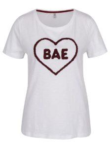 Biele tričko s nášivkou ONLY Madison