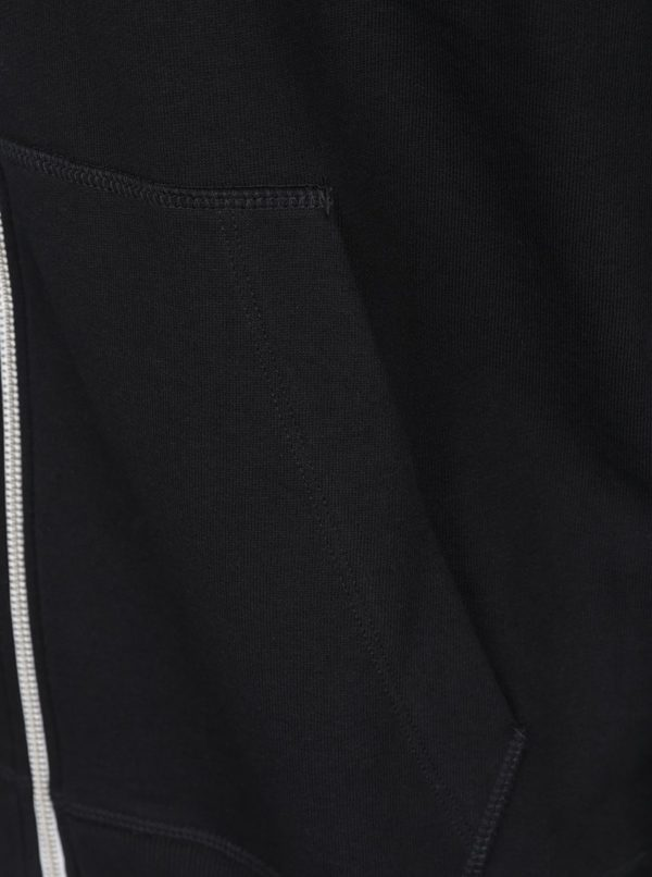 Čierna mikina na zips Jack & Jones Holmen