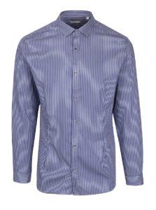 Tmavomodrá formálna pruhovaná super slim fit košeľa Jack & Jones Premium Parma