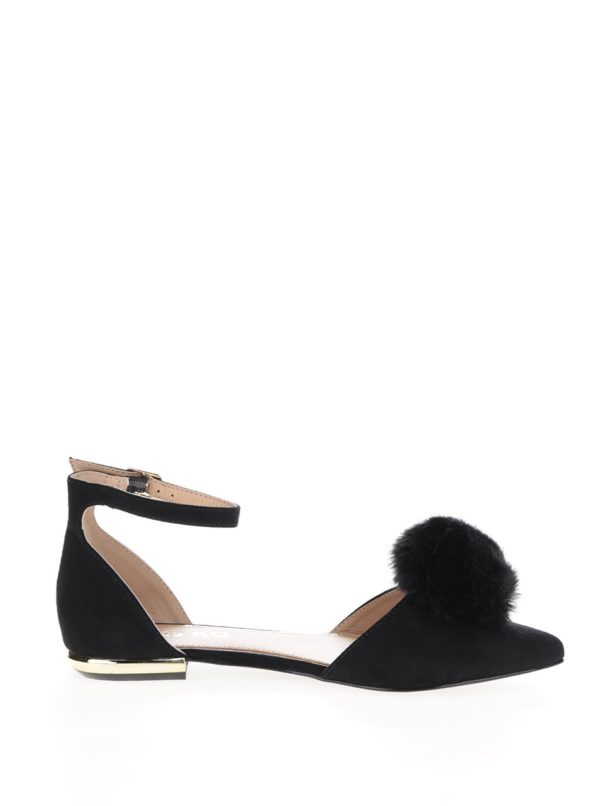 Čierne sandálky v semišovej úprave Miss KG Goldie