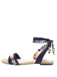 Tmavomodré sandále s farebnými detailmi Miss KG Raphy
