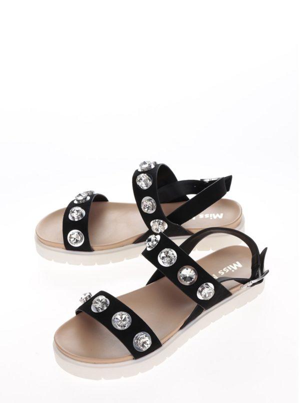 Čierne sandále na platforme Miss KG Rita