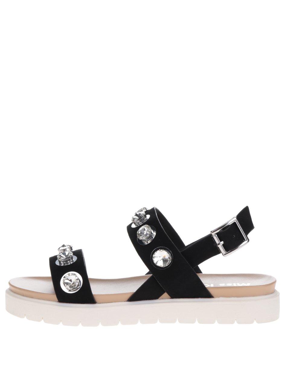75948aff98f1 Čierne sandále na platforme Miss KG Rita
