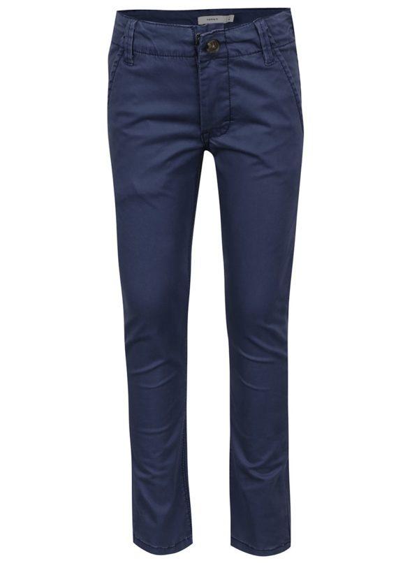 Modré chlapčenské chino nohavice name it Timber