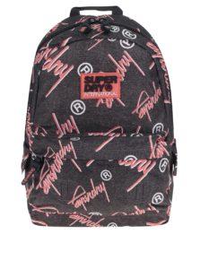 Tmavosivý vzorovaný batoh Superdry Montana 17 l