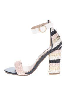 Krémovo-ružové sandálky na vysokom podpätku Miss KG Ebony