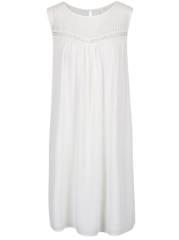 Krémové šaty s čipkou s.Oliver