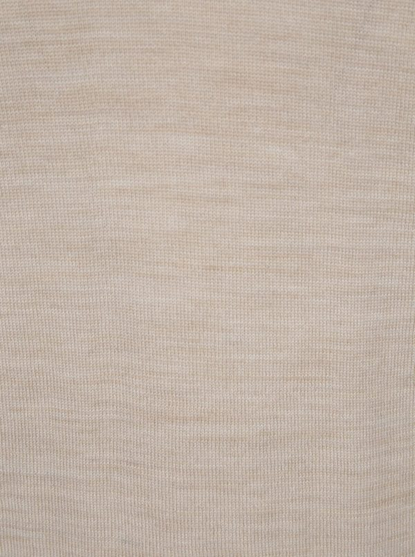 Béžový véčkový sveter z Merino vlny Selected Homme Tower