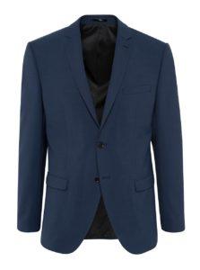 Tmavomodré oblekové sako s prímesou vlny Selected Homme Newone