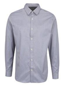Sivá vzorovaná formálna slim fit košeľa Selected Homme Done