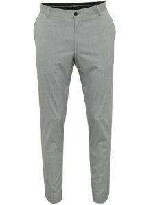 Svetlosivé oblekové nohavice Selected Homme Newone