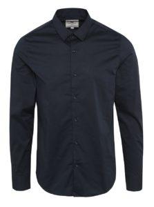 Tmavomodrá pánska formálna košeľa s dlhým rukávom Garcia Jeans Dario