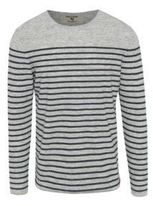 Sivý pánsky pruhovaný sveter Garcia Jeans