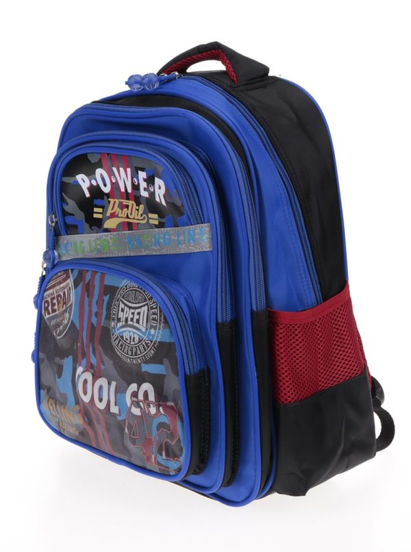 Modrý chlapčenský batoh s potlačou 14 l Freelander Triple Gusset
