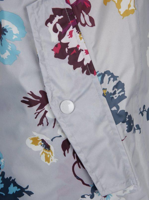 Sivý dámsky kvetovaný pršiplášť Tom Joule