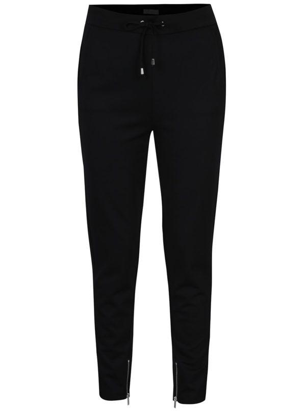 Čierne voľné nohavice s vreckami VILA Riasta