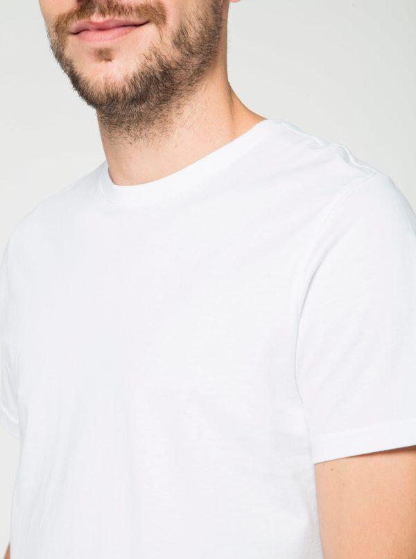 Biele basic tričko Burton Menswear London