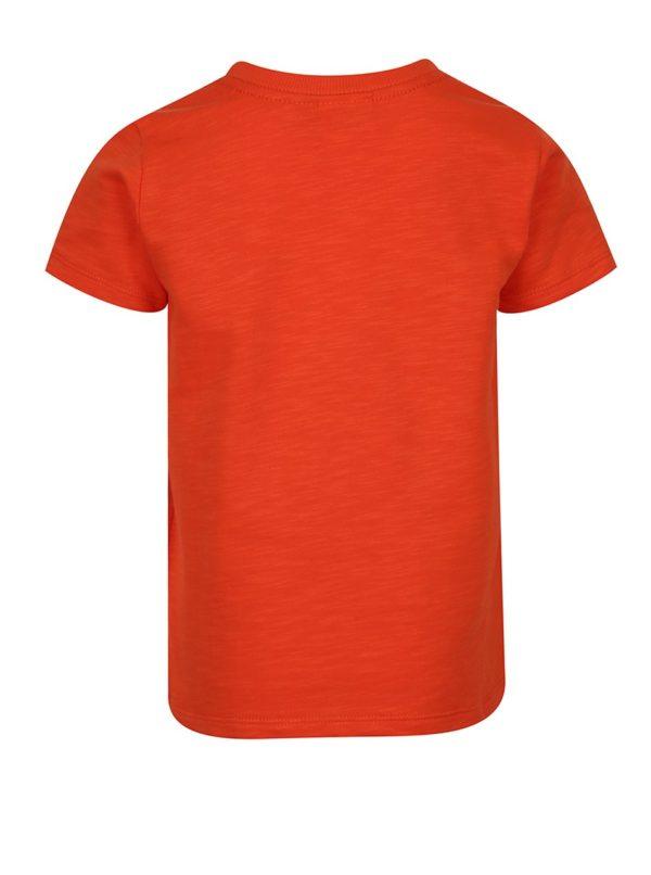 Oranžové chlapčenské tričko s nášivkami Lego Wear Teo
