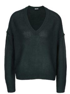 Tmavozelený sveter s véčkovým výstrihom Noisy May Verona