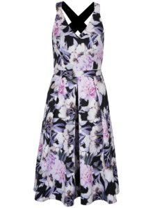 Krémovo-čierne kvetované šaty Dorothy Perkins