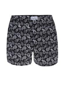 Čierne pánske vzorované trenírky Happy Socks Paisley