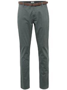 Zelené chino nohavice s opaskom ONLY & SONS Tarp