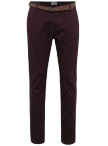 Vínové chino nohavice s opaskom ONLY & SONS Tarp