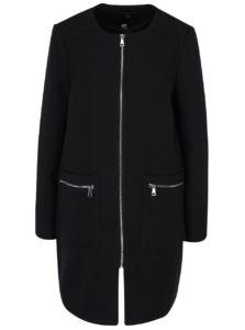 Čierny tenký kabát na zips Dorothy Perkins