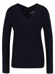 Tmavomodrý sveter s prestrihmi na ramenách Dorothy Perkins