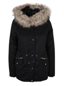Čierna  zimná parka s kapucňou Dorothy Perkins