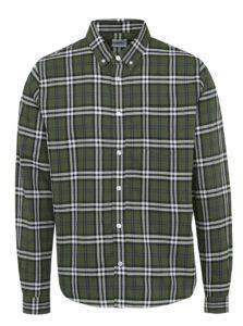 Tmavozelená károvaná košeľa Burton Menswear London