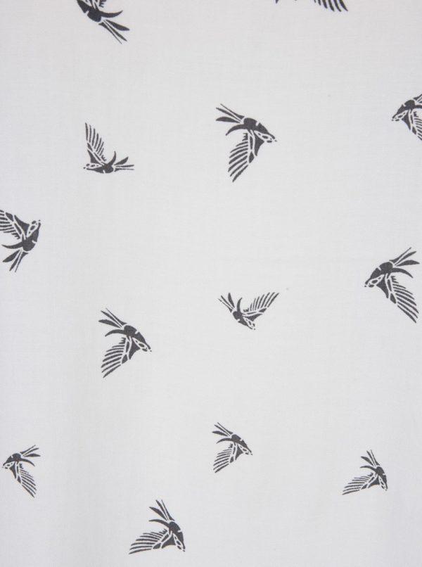 Biela blúzka s motívom vtákov ONLY First