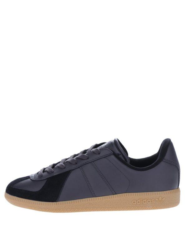 Čierne pánske kožené tenisky adidas Originals BW Army