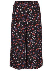 Čierne voľné kvetované nohavice Miss Selfridge