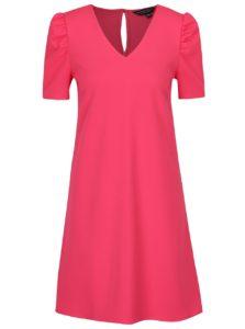 Tmavoružové šaty s prestrihom na chrbte Dorothy Perkins