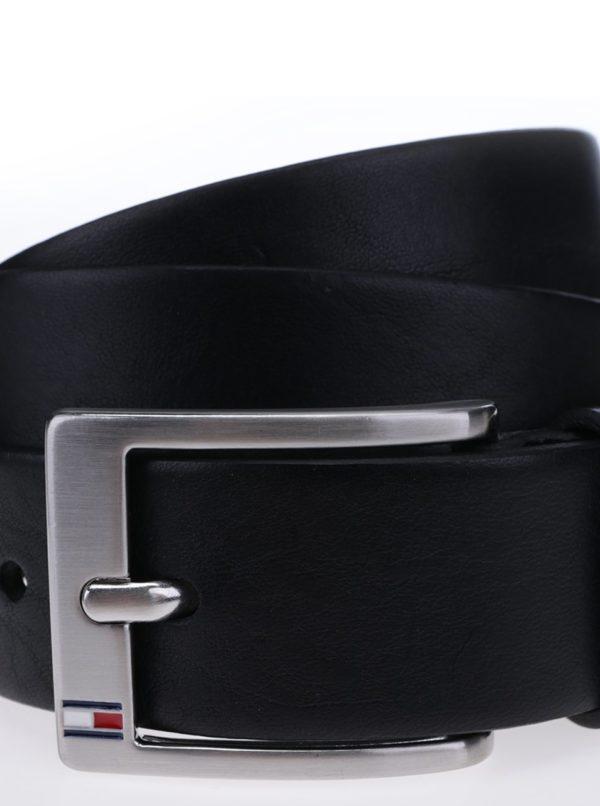 Čierny pánsky kožený opasok Tommy Hilfiger New Aly