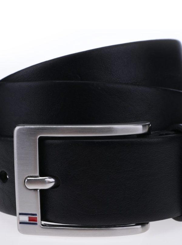 94b8d047d1 Čierny pánsky kožený opasok Tommy Hilfiger New Aly