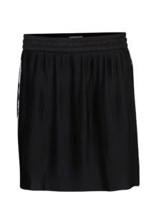 Čierna plisovaná sukňa s pruhmi adidas Originals