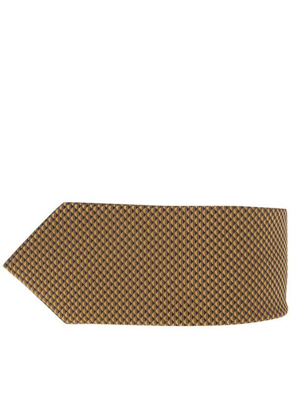 Žltá vzorovaná kravata Burton Menswear London