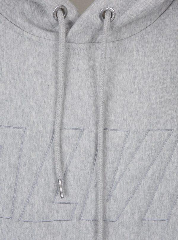 Svetlosivá melírovaná pánska voľná mikina s vyšitým nápisom Calvin Klein Jeans Harack